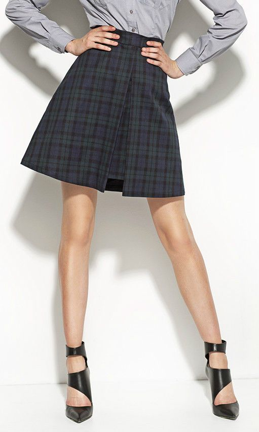 Jupe femme écossaise Trapèze plissée SP22 Nife 36 38 40 42 44