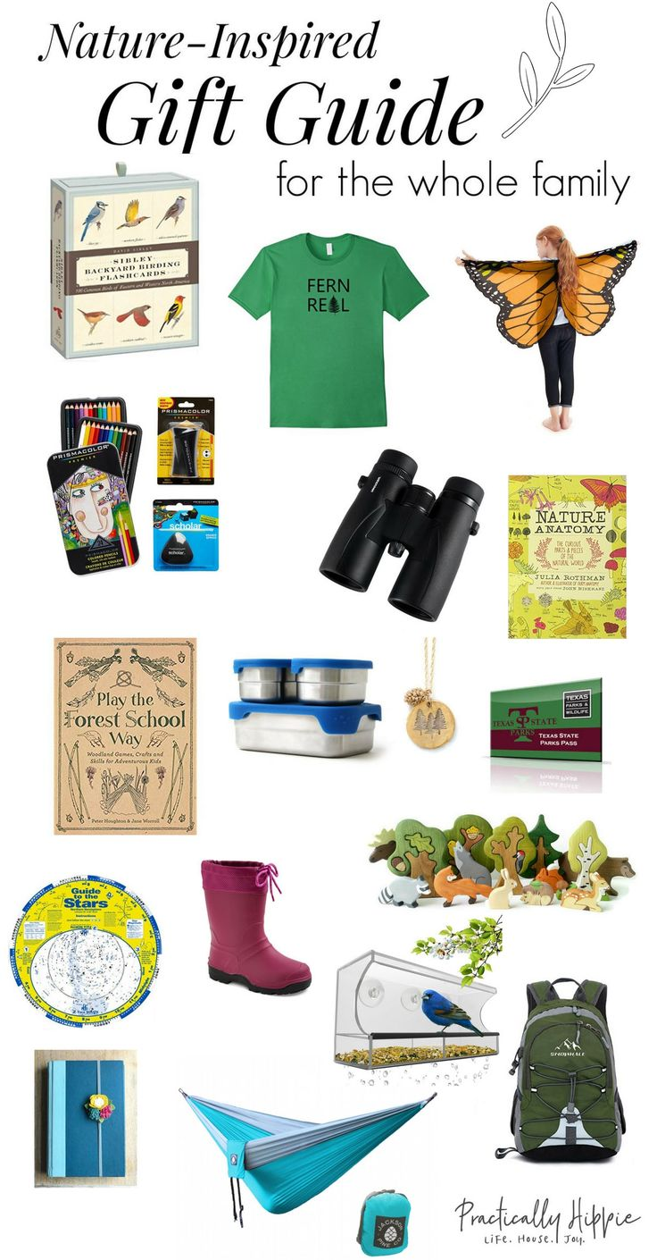 Nature-inspired gifts for the Whole Family | www.PracticallyHippie.com
