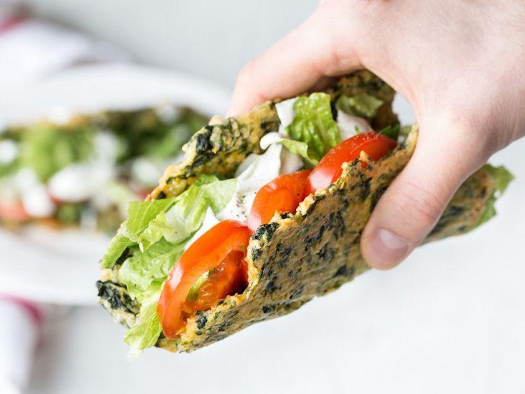 Low Carb Tacos mit knuspriger Salatfüllung   – Receptek