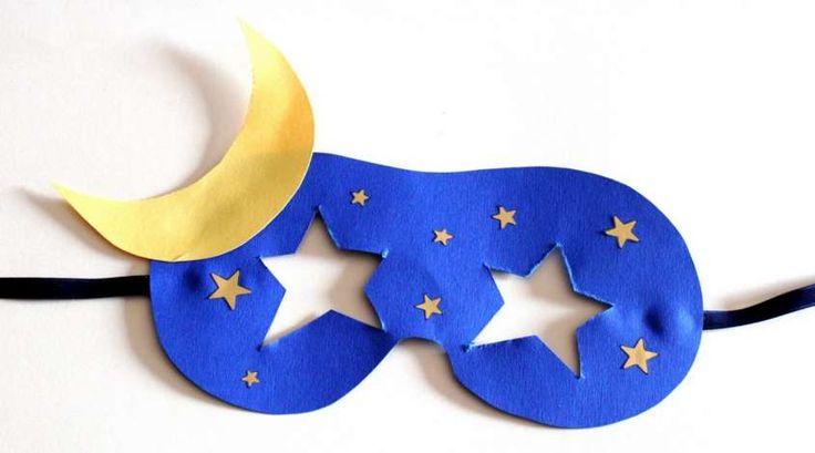 Carnevale: maschere e cappelli fai da te - Maschera da cielo stellato