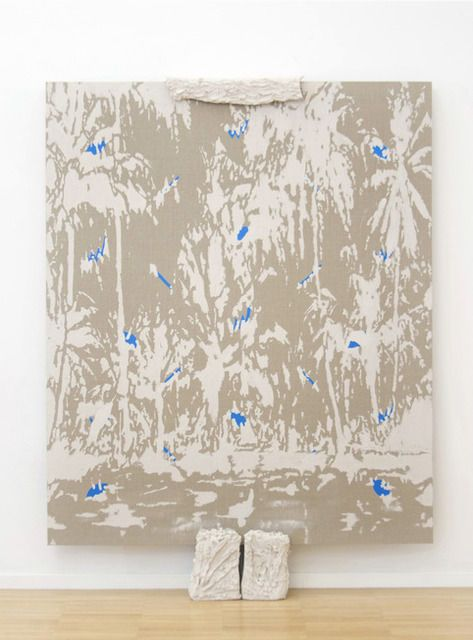 HÉCTOR ARCE-ESPASAS Untitled (CL-S), 2014 Stoneware clay and acrylic on linen - ceramic supports 83 1/2 × 59 4/5 in 212 × 152 cm Luce
