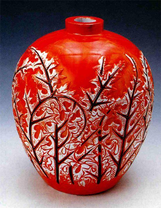Rene Lalique Art Deco Vase 1921
