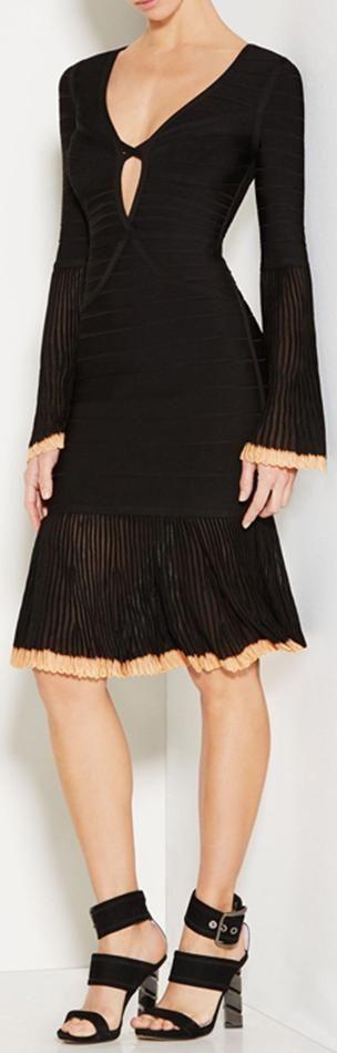 'Rinnaa' Pointelle Trim Bandage Dress