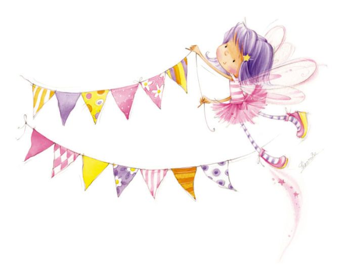 cute fairy with banner.jpg | Marina Fedotova | Representing leading artists who produce children's and decorative work to commission or license. | Advocate-Art