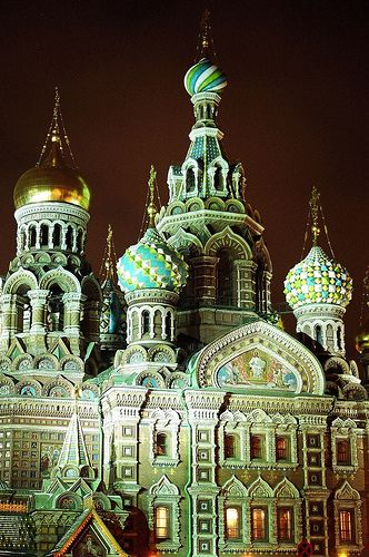 The Church of the Saviour on Spilled Blood,St Petersburg, Russia
