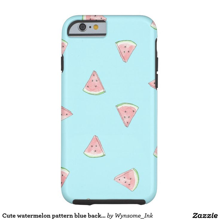 Cute watermelon pattern blue background