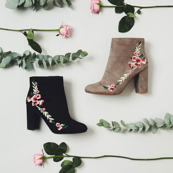 """These beauts are made for walkin'  Embroidered boots just £15;€21;$24 each! #Primark"""