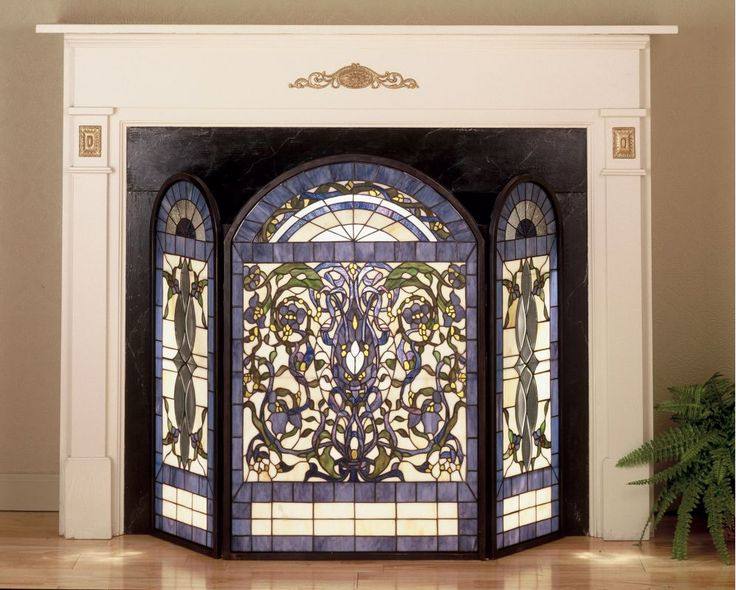 1000 Ideas About Stained Glass Fireplace Screen On Pinterest Stained Glass Art Stained Glass