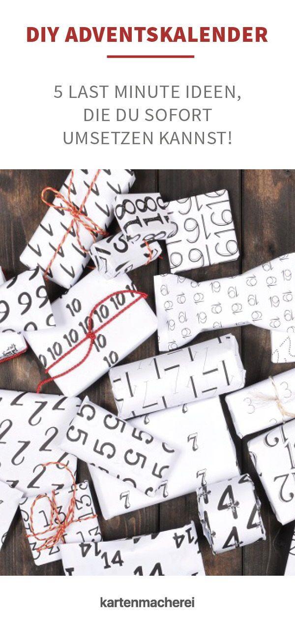 Adventskalender selber machen 8 schöne Ideen für die