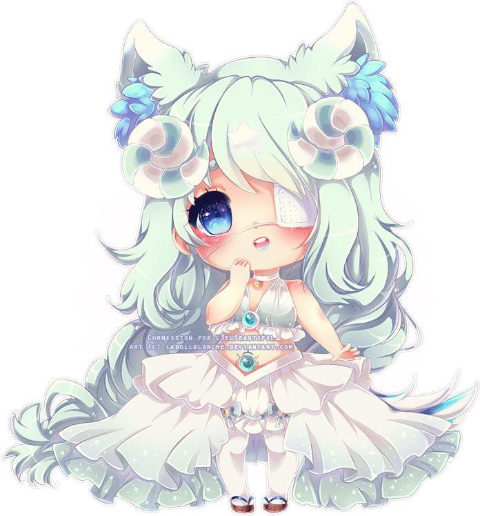 anime kawaii wolf chibi manga deviantart drawings hair ladollblanche thank