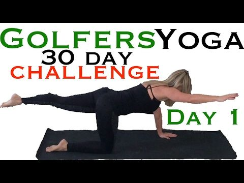 Yoga for Golfers - Improve Your Swing, Open Shoulders, Hips & Low Back - YouTube