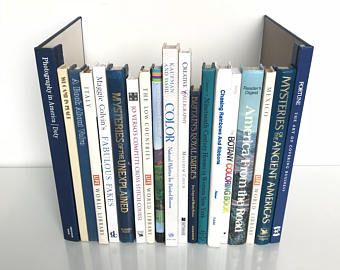 Hidden Storage, Real Books! - Extra Tall Large Book Box Router Cord Hider, Secret Faux Bookshelf  Vintage Decorative in Blue, White, Neutral