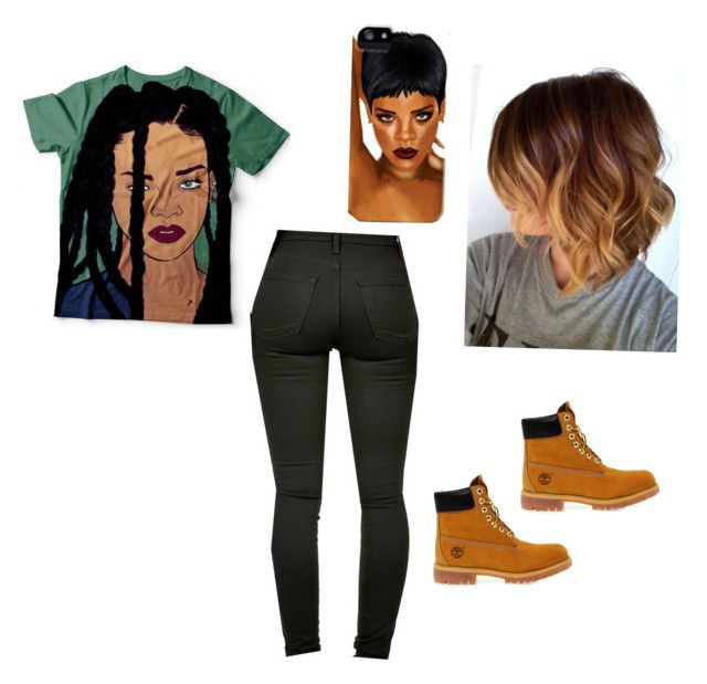 Rihanna Fan by t-green-love on Polyvore featuring polyvore Timberland fashion style clothing