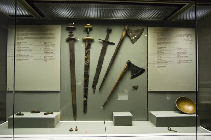 Viking swords and axes, National Museum of Ireland, Dublin