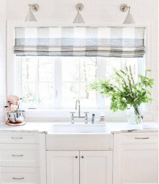 Grey Kitchen Roman Blind: 1000+ Ideas About Gray And White Kitchen On Pinterest