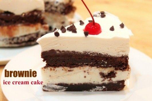 brownie ice cream cake @createdbydiane