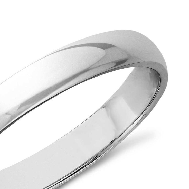 Classic Wedding Ring In 9K White Gold (3mm) | The Diamond Channel, Johannesburg