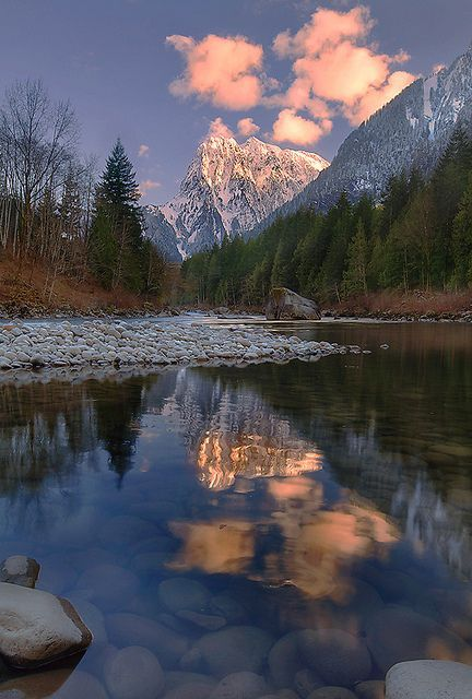 Mt. Index and Skykomish River, Washington; photo by Trevor Anderson