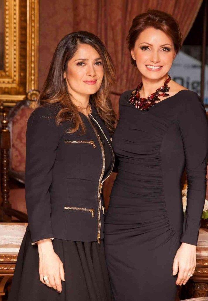 Angélica Rivera y Salma Hayek se reencuentran durante una cena ofrecida al presidente francés | 20minutos.com.mx