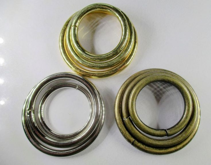 Metal O Rings unwelded 25mm, 32mm, 38mm 4 colours for straps, attachers, bags #Jaszitupleatheraccents