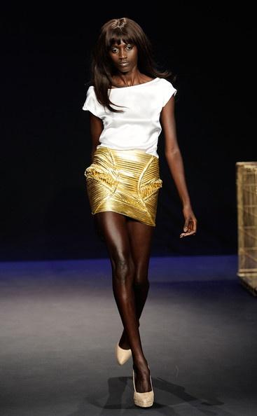 Jad Ghandour Spring 2012 - White blouse & Gold SkirtGhandour Spring, Jad Ghandour, Gold Skirts, Fashion Design, Spring Collection, Collection 2012, White Blouses, Spring 2012, 2012 Favorite