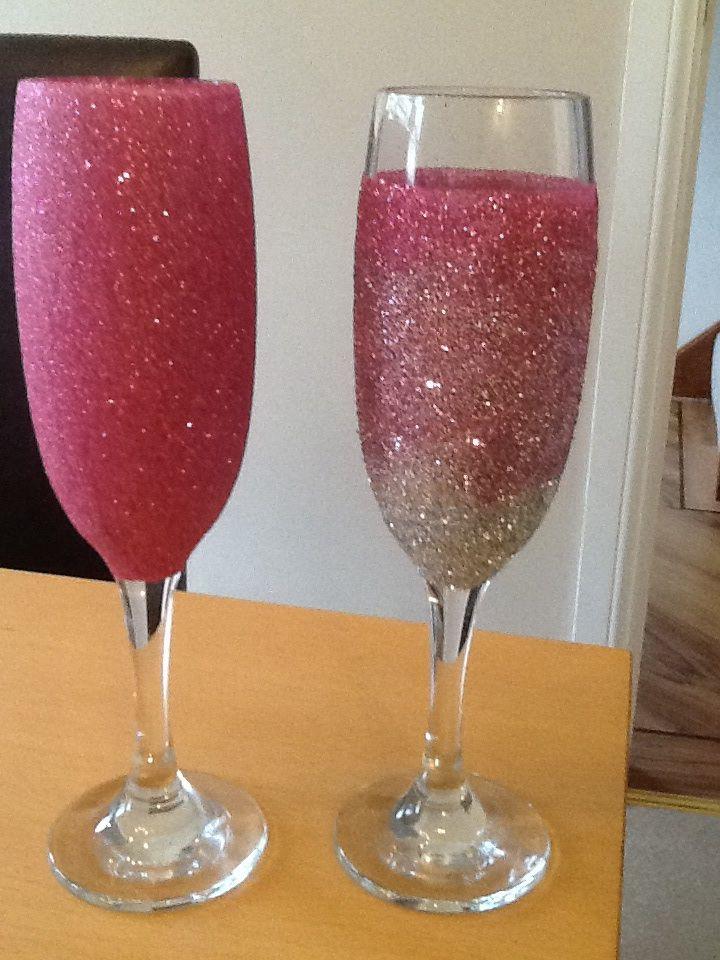 17 best images about glitter wine glasses on pinterest. Black Bedroom Furniture Sets. Home Design Ideas