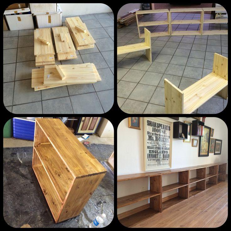 DIY bookcase. June 2015 project