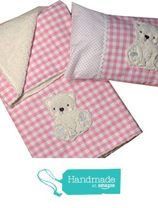Babydecke und Kuscheldecke mit Stickerei Bär, Babykissen mit Namen von der C-Fashion-Design https://www.amazon.de/dp/B01N12EGTR/ref=hnd_sw_r_pi_dp_zDcSybKERM1QX #handmadeatamazon