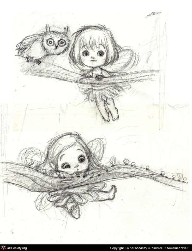 lindos pequeños bocetos de hadas por Kei Acedera | 2D | CGSociety