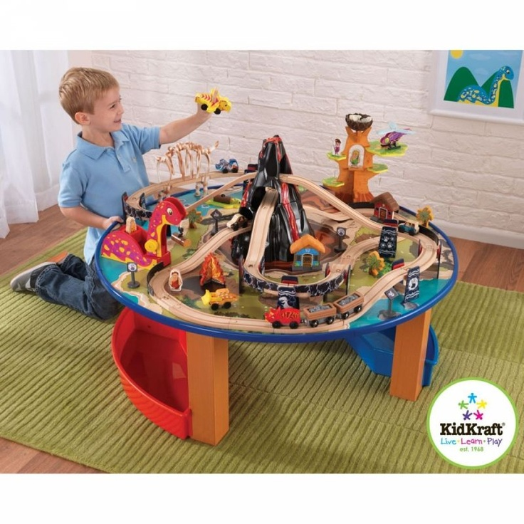 Kidkraft - Train - Table et circuit de train dinosaure