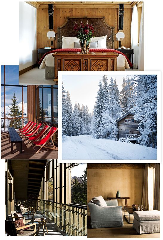 Gstaad, Megève, Courchevel, Aspen... Vogue.fr pose ses valises dans les plus belles stations de ski du moment et leurs belles pistes enneigé. http://www.vogue.fr/voyages/adresses/diaporama/hotels-des-neiges/17294