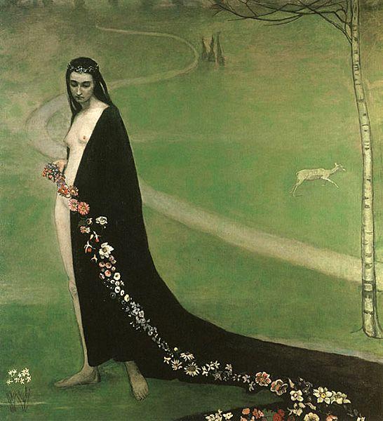 Romaine Brooks Femme avec des Fleurs, 1910