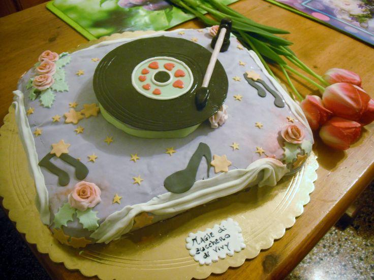 torta disco vinile