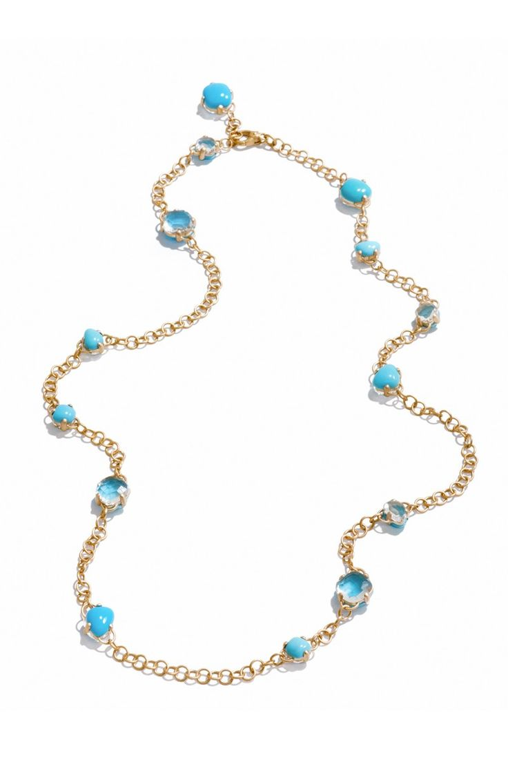 Pomellato Capri Turquoise & Rock Crystal Necklace | Oster Jewelers