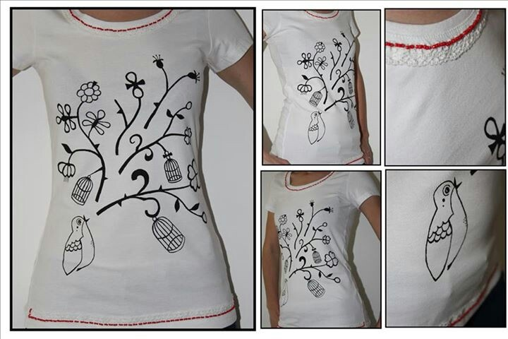 """""""Florence + the machine"""" hand painted t-shirt"""