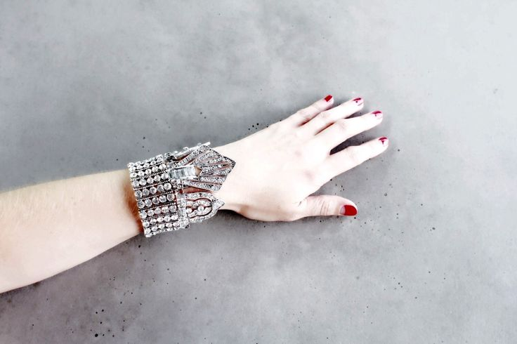 Statement Bracelet Cuff - Handcrafted: Harlow. Silver crystal layered ethnic bohemian by Lacersuite on Etsy https://www.etsy.com/listing/262005245/statement-bracelet-cuff-handcrafted