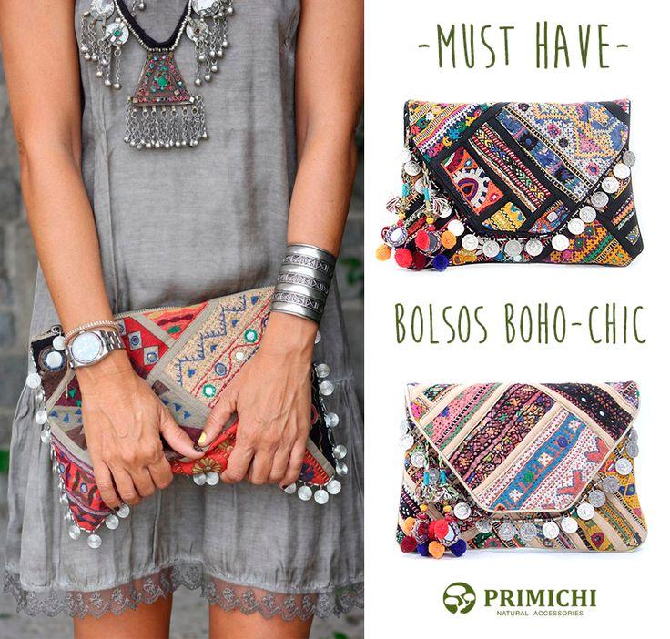 Primichi look Boho chic. Look boho. Bolsos boho chic. tendencia boho. boho style. http://www.primichi.com/bolsos-mujer