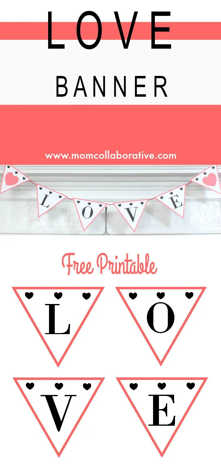 Free Printable Valentines Day Banner