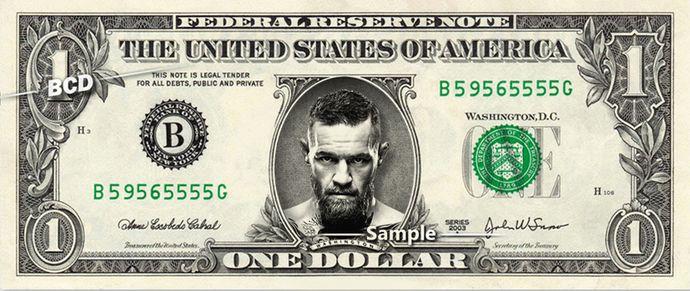 CONOR MCGREGOR – Real Dollar Bill Cash Money Collectible Memorabilia Celebrity Novelty Bank Note