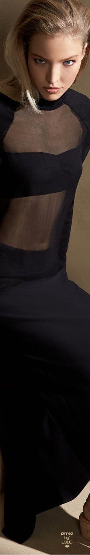 Ralph Lauren Collection Anneliese Long Cady Skirt, Black