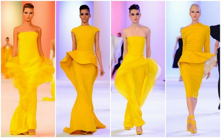Yellow - Beautifully Fierce!: Paris Haute Couture: Spring 2014 Color Trends.