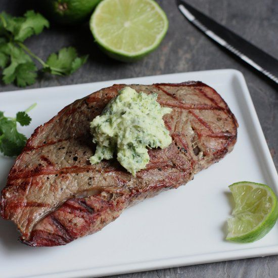 Grilled Halibut With Cilantro Garlic Butter Recipe — Dishmaps