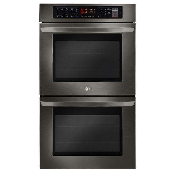 LG Convection Double Electric Wall Oven (Black Stainless Steel) (Common: 30-in; Actual: 29.75-in)
