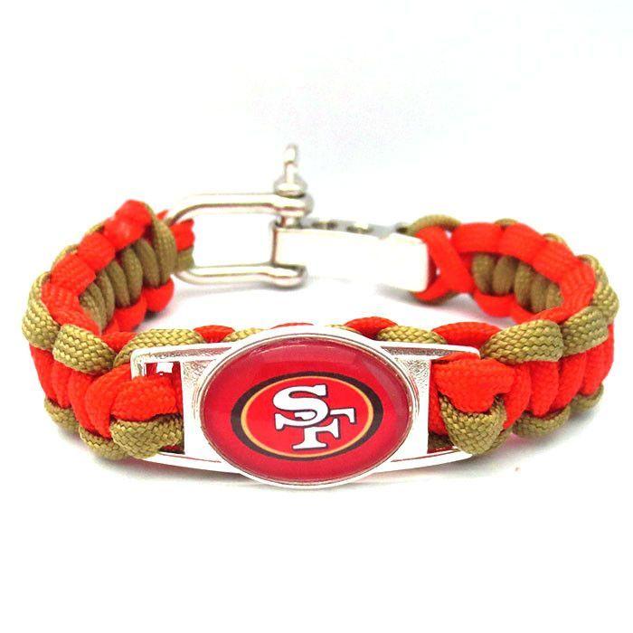 NFL San Francisco 49ers Football Team Paracord Bracelet