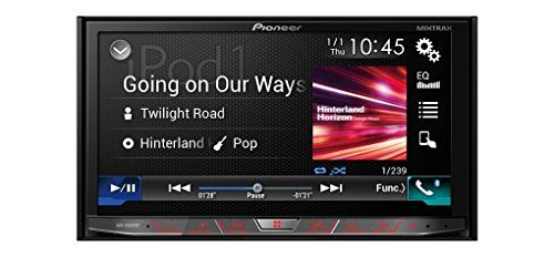 """7"""" Clear Type Resistive WVGA touchscreen multimedia player with easy smartphone connectivity via Apple CarPlay, Android Auto, AppRadio Mode and Bluetooth, supporting MIXTRAX, CD/DVD, Dual USB and an FM tuner"""