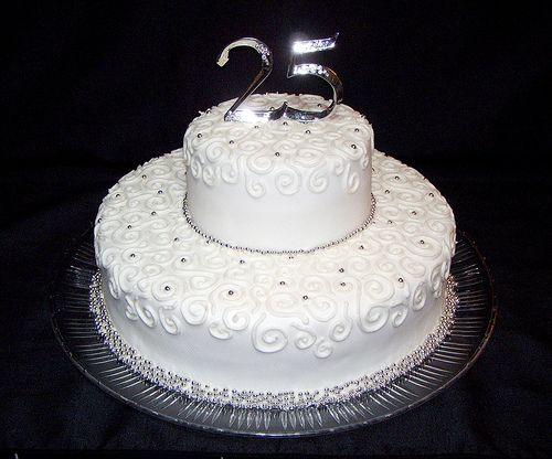 25th Wedding Cakes : 11 Photos of 25th Wedding Anniversary Cake Ideas | Cake Decoration Idea | Hanbly.com