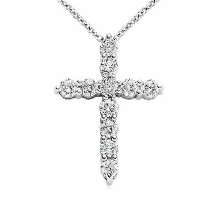 Diamond Cross Pendant in 9K White Gold (0.22ct tw) | The Diamond Channel, Johannesburg