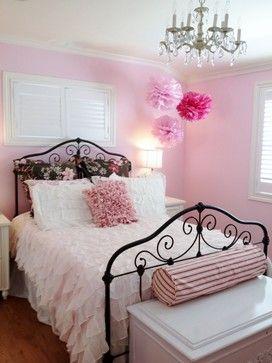 love the pom poms, headboard, & the pillows