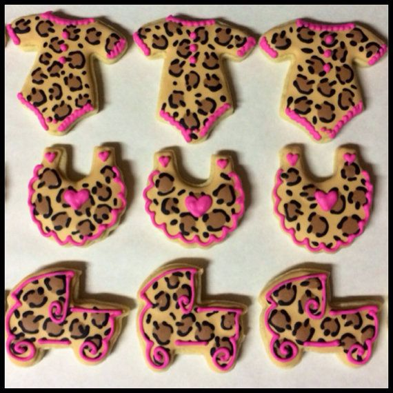 Leopard Print Baby Shower Sugar Cookies  1 by CookiesByHannah, $24.00
