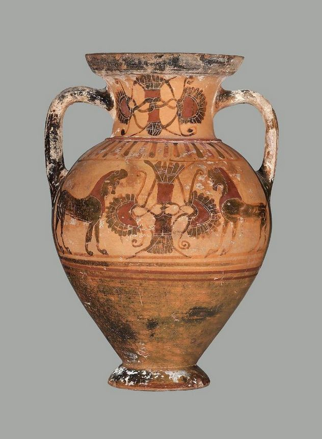 Two Handled Jar Amphora Greek The Goltyr Painter About 570